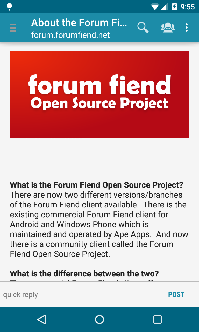 Community Forum Apps